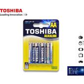 Μπαταρία Αλκαλική TOSHIBA AA (Συσκευασία 4 Τεμαχίων)