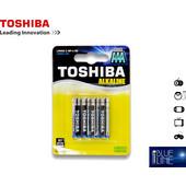 Μπαταρία Αλκαλική TOSHIBA AAA (Συσκευασία 4 Τεμαχίων)