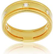 Δαχτυλίδι Κίτρινο Χρυσό 14 Καρατίων Κ14 με Πέτρες Ζιργκόν, 007789