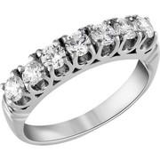 Σειρέ δαχτυλίδι Κ18 λευκόχρυσο με διαμάντια SBR003