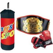 Σετ Μποξ με σάκο, γάντια και ζώνη Boxing set JS048902