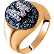 Σεβαλιέ δαχτυλίδι από ροζ χρυσό Κ14 με μονόγραμμα