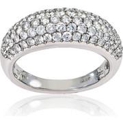 Δαχτυλίδι Λευκό Χρυσό 18 Καρατίων Κ18 με Διαμάντια Μπριγιάν, 007085