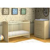 Σετ κρεβάτι μωρού FAKTUM LEXI 60x120 φυσικό και συρταριέρα με 3 συρτάρια