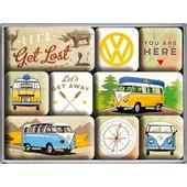 Nostalgic Μεταλλικά Μαγνητάκια (Σετ 9 τεμαχίων) VW Bulli - Let
