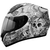 MT Revenge Skull & Roses Grey