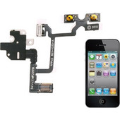 Headphone Audio Jack Ribbon Flex Cable for iPhone 4(White) (iPartsBuy) SK272238