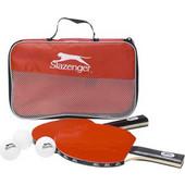 Σετ Ping Pong 6 τμχ. με 2 ξύλινες ρακέτες, 3 μπάλες και τσάντα μεταφοράς, Slazenger 22541 - Slazenger - 00011112