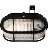 Φωτιστικό τύπου χελώνας πλαστικό εξωτερικού χώρου επίτοιχο Μαύρη 56111 Commel