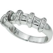 Δαχτυλίδι Κ18 με Διαμάντια, 001018