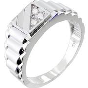 Λευκόχρυσο ανδρικό δαχτυλίδι Κ14 με ζιργκόν