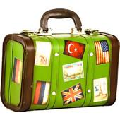 Διακοσμητική μεταλλική vintage βαλίτσα 23Χ17Χ9