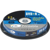 1x10 Intenso DVD+R 8, 5GB 8x Speed, Double Layer printable