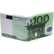 """Πρωτότυπο Πορτοφόλι με Σχέδιο """"Χαρτονόμισμα των 100 ευρώ"""""""
