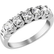 Σειρέ δαχτυλίδι Κ18 λευκόχρυσο με διαμάντια SBR_004