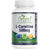 Natural Vitamins L-Carnitine 500mg 30s