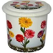 Κάδος Απορριμάτων 2lt Επιτραπέζιος 19x17x17 Decor Λουλούδια Ζέρμπερες