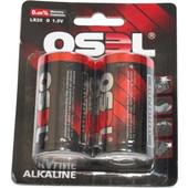 OSEL Αλκαλικές μπαταρίες LR20D ζεύγος σε blister pack