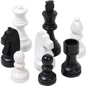 Πιόνια για σκάκι ξύλινα άσπρο μαύρο 75mm