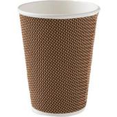 Χάρτινο Ποτήρι Rattan Καφέ 14oz - 25τεμ