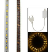 Casing Waterproof Casing Warm White LED Rope Light with Controller, Length: 1M SK241898