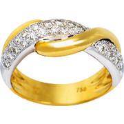 Δαχτυλίδι Κ18 με Διαμάντι, 001140