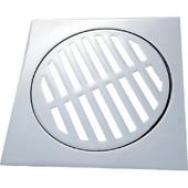 Oem Σχαράκι Μπάνιου Τετράγωνο Βαρέος Τύπου Χρωμέ 15x15cm