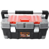 Tactix - Εργαλειοθήκη Πλαστική με Αποσπώμενο Ράφι & Ταμπακιέρα 320304