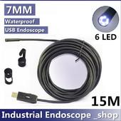 Κάμερα ενδοσκοπική αδιάβροχη USB 7mm με καλώδιο 15 μέτρα - Cst HN-15B