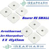 Beurer RE Small Ανταλλακτικά Σετ 8 Ηλεκτροδίων 45x45mm