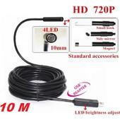 Ενδοσκοπική αδιάβροχη κάμερα USB 10mm με καλώδιο 10 μέτρα 1.3MP 720P HD - Cst EH-10