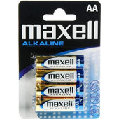 MAXELL Αλκαλικές μπαταρίες μεγέθους AA Συσκευασία 4 τεμαχίων- Maxell - LR6-4PACK