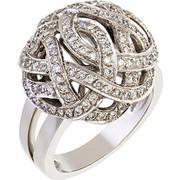 Δαχτυλίδι από λευκό χρυσό 18 καρατίων με διαμάντια. KM00692