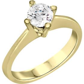 Μονόπετρο δαχτυλίδι Κ18 χρυσό με διαμάντι κοπής brilliant - MBR067G b081b71183a