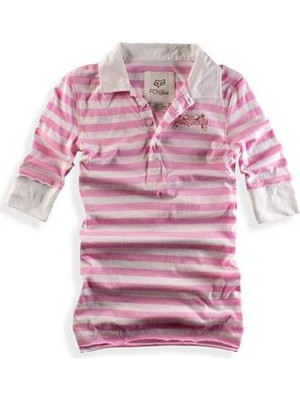 FOX DAZED POLO 3/4 PINK