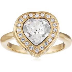 Γυναικείο Κόσμημα Δαχτυλίδι σε σχήμα καρδιάς από Ανοξείδωτο Ατσάλι σε Χρυσό  χρώμα με Κρυσταλλάκια 908960a58dd