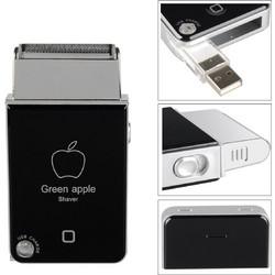Επαναφορτιζόμενη USB Ηλεκτρική Ξυριστική Μηχανή Green Apple Shaver - Trimmer 0f457139c16