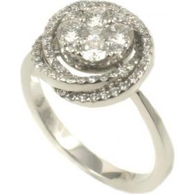 Δαχτυλίδι λευκόχρυσο Κ18 με 78 διαμάντια POL003 056735d1899