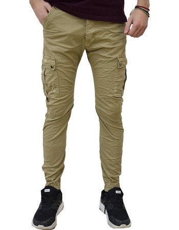 f1a72335d352 ΑΝΔΡΙΚΟ CARGO ΠΑΝΤΕΛΟΝΙ ΜΕ ΛΑΣΤΙΧΑ BACK2JEANS M64 BEIGE