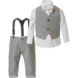 027f8effc32 Σετ παντελόνι με ασορτί γιλέκο, πουκάμισο, παπιγιόν και τιράντες 41-219480-0
