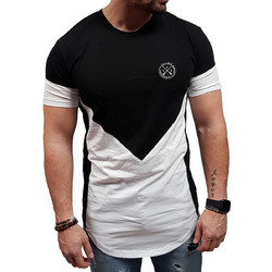 58a0603a168c Vinyl Art - 76111 - Asymetric Core Tees - Black White - μπλούζα μακό