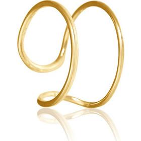 Ασημένιο Δαχτυλίδι σε Καμπυλωτό σχέδιο με Ακανόνιστο σχήμα Επιχρυσωμένο -  Σεβαλιέ c341b1ee42d