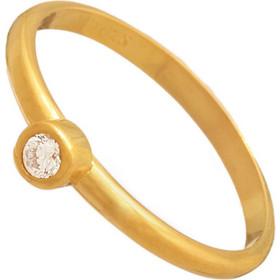 Ασημένιο επίχρυσο δαχτυλίδι Βέρα Μονόπετρο 9622a2eb030