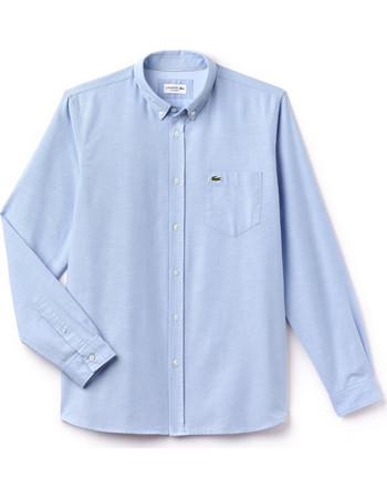 15bb58cf691b Ανδρικό πουκάμισο μονόχρωμο Spring Bloom Lacoste - CH4976 - Ανοιχτό Γαλάζιο