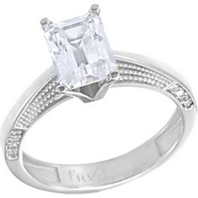Λευκόχρυσο μονόπετρο δαχτυλίδι Κ14 με ορυκτή πέτρα SWAROVSKI DF683-OR1 2e68c26a97f