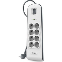 Belkin SurgePlus 8-Outlet Surge Protector with 2 USB Ports (έως 3 Άτοκες δόσεις)