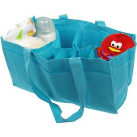 c370710299 Double-Deck Non-Woven Fabric Mommy Diaper Hand Bag with 7 Compartments(Blue