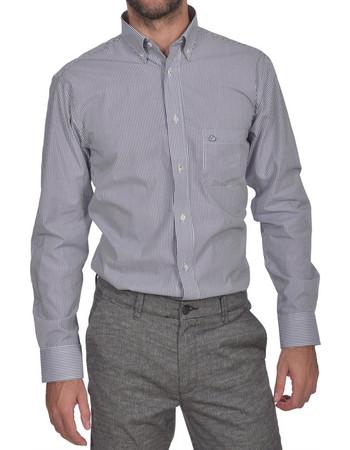 Dur ανδρικό ριγέ πουκάμισο Regular fit - 10210039 - Μπλε 9ec2684201c