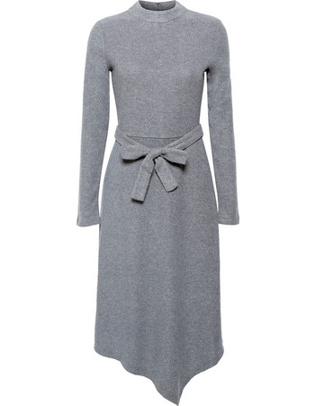 03bd9f24db0 Esprit γυναικείo πλεκτό φόρεμα με ασύμμετρο κάτω μέρος - 118EO1E031 - Γκρι