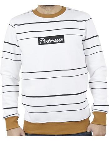 Ανδρικό Μπλούζα Φούτερ PONTEROSSO 18-2057 STRIPES Ριγέ Λευκό. Ponte Rosso 7db82279d70